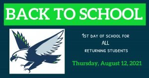 All Returning Students - 1st Day of School
