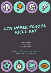 Upper School Field Day - Rescheduled from 5/10 @ Balcon Park