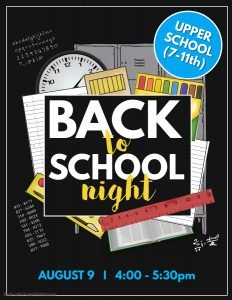 7th-11th Back to School Night